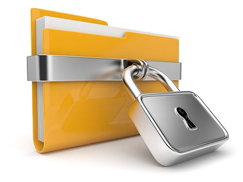 security yellow folder and lock. data security concept. 3d shutterstock 83711539 1 1