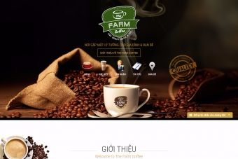thiet ke web quan ca phe the farm coffee thefarmcoffee vn 01